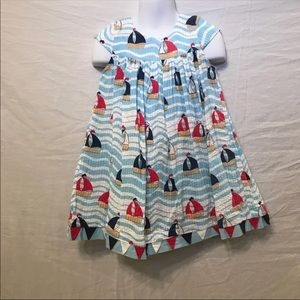 Other - Nautical Toddler Sail Boat Dress